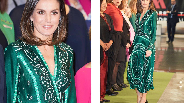 La reina Letizia con el vestido de Sandro que se parece al de Isabel. (Limited Pictures)