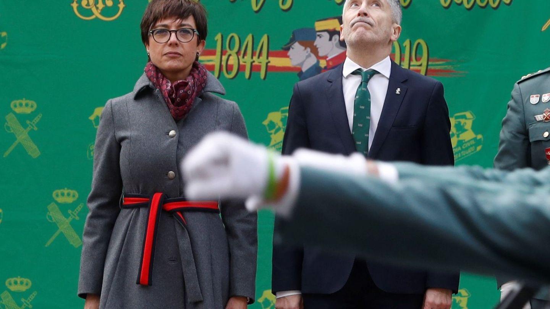 El ministro de Interior, Fernando Grande-Marlaska, durante la toma de posesión de la directora general de la Guardia Civil, María Gámez, el pasado enero. (EFE)