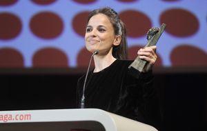 Elena Anaya y su ex se dedican premio en la clausura del Festival de Málaga