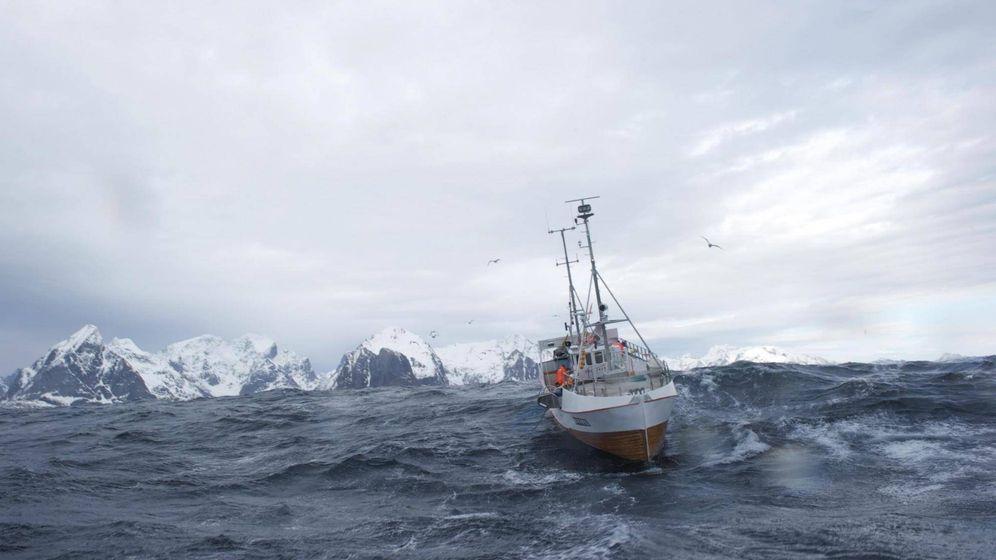 Foto: A la pesca del skrei en el mar de Noruega.