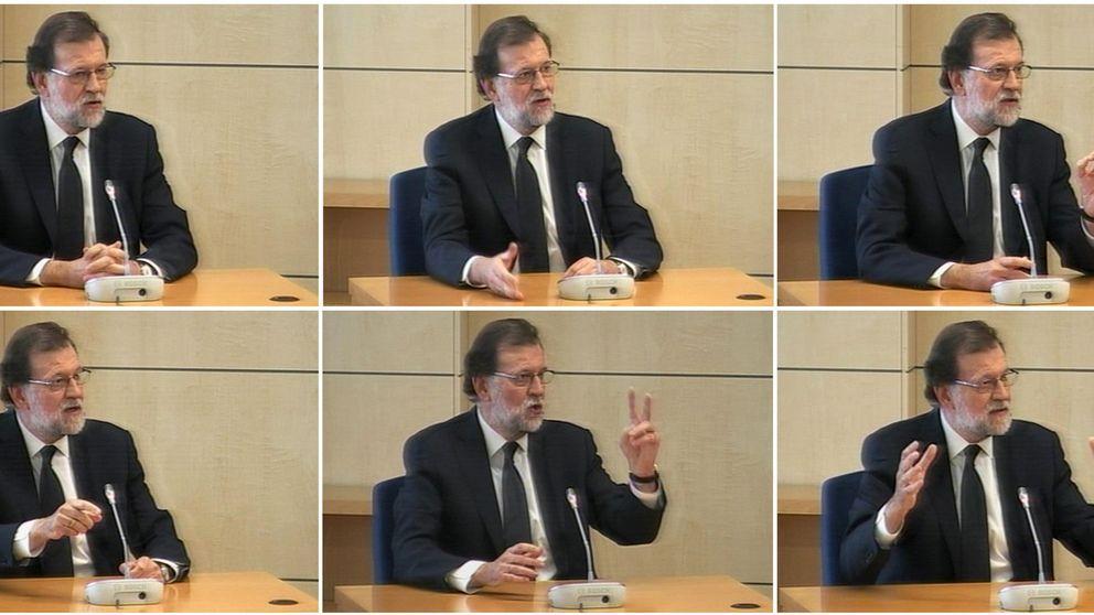 Las fotos de Rajoy durante el juicio de la Gürtel
