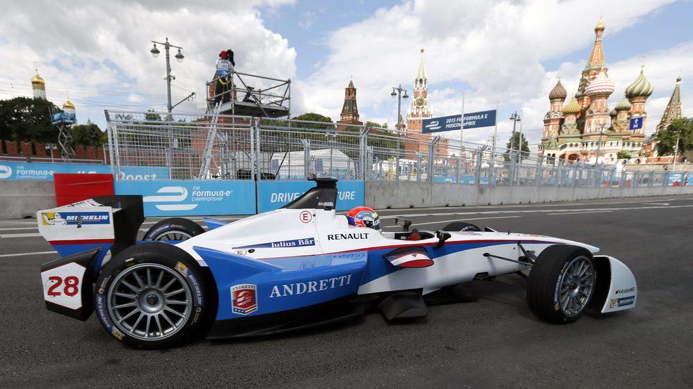 Foto: Justin Wilson, en una prueba de la Fórmula E la pasada temporada en Moscú.