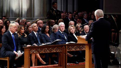Los Trump, los Obama y los Clinton, juntos en el funeral de George Bush
