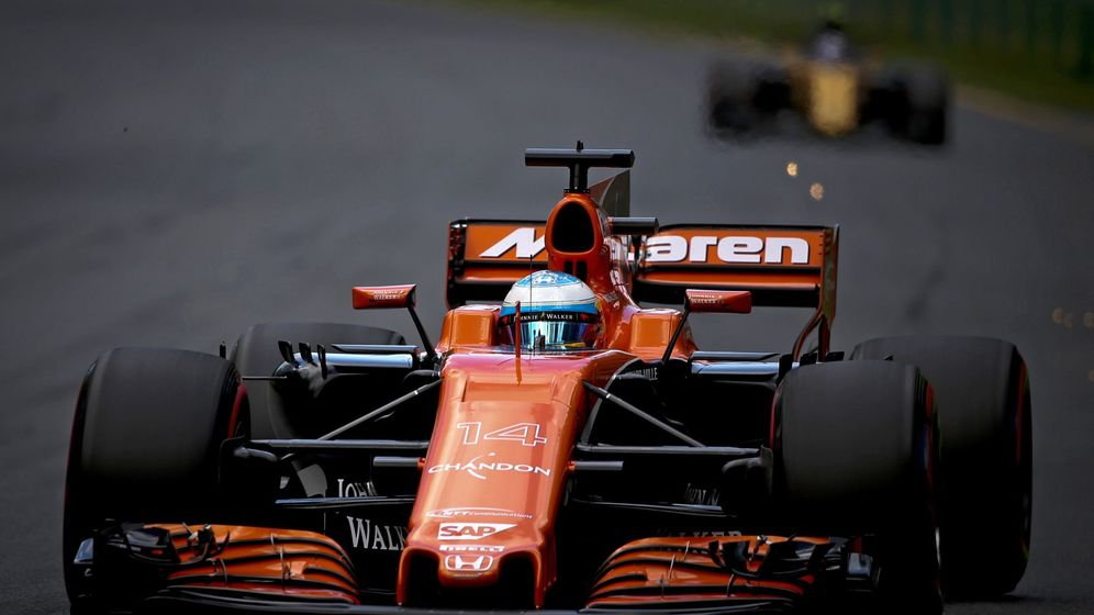 Foto: Fernando Alonso durante el GP de Australia. (EFE)