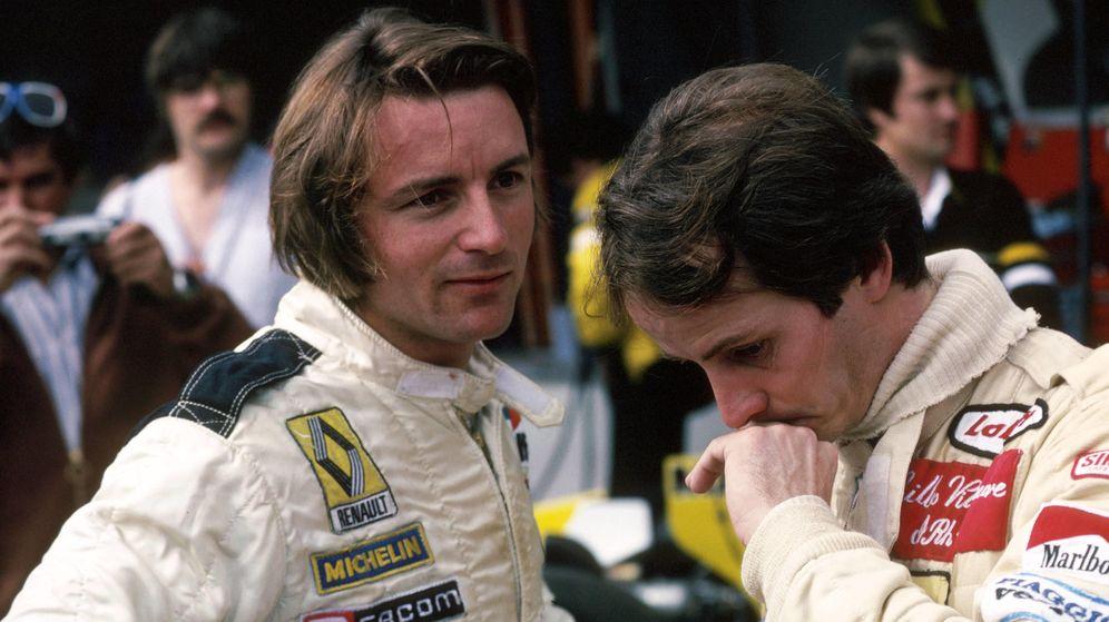 Foto: René Arnoux junto a Gilles Villeneuve (Imago).