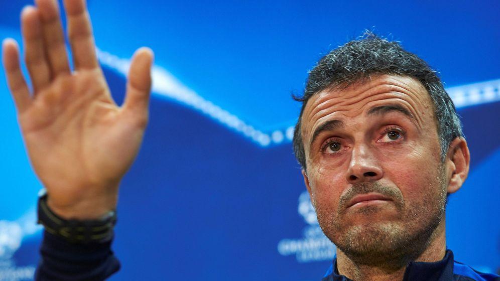 Foto: Luis Enrique durante una comparecencia ante la prensa en su etapa como entrenador del Barcelona. (Efe)