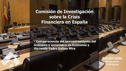 Solbes, en la comisión sobre la crisis financiera