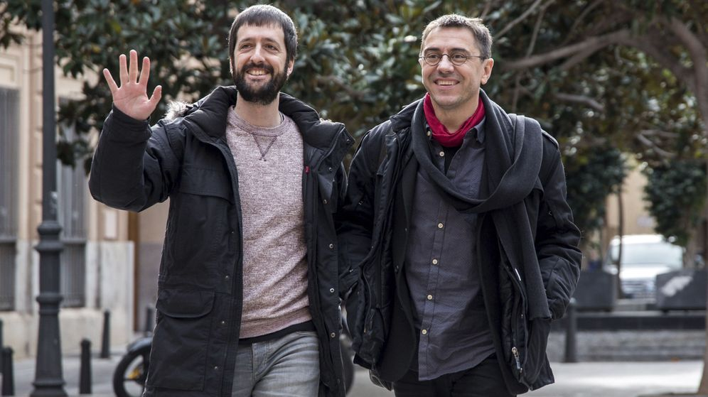 Foto: Juanma del Olmo y Juan Carlos Monedero, en una foto de archivo. (EFE)