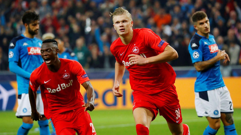 Haaland marcó ocho goles con el Red Bull Salzburgo en la fase de grupos de la Champions League. (Reuters)