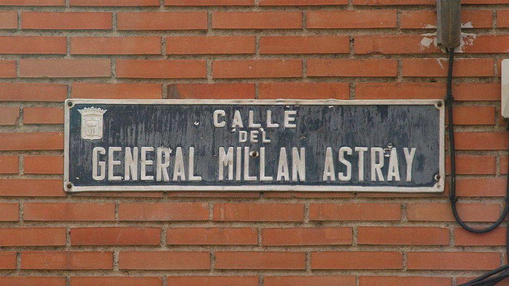 Foto: Placa de la calle Millán Astray. (EFE)