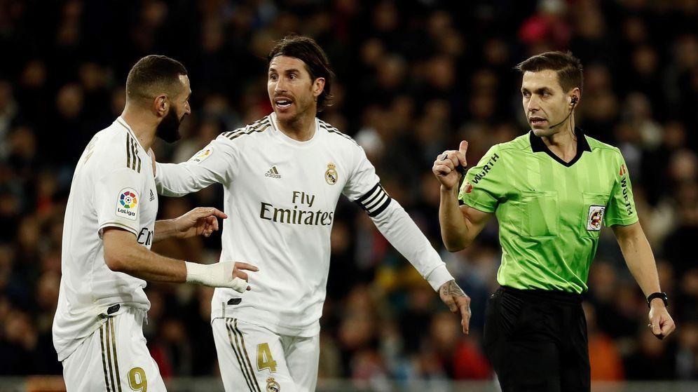 Foto: Benzema y Sergio Ramos durante esta temporada. (EFE)