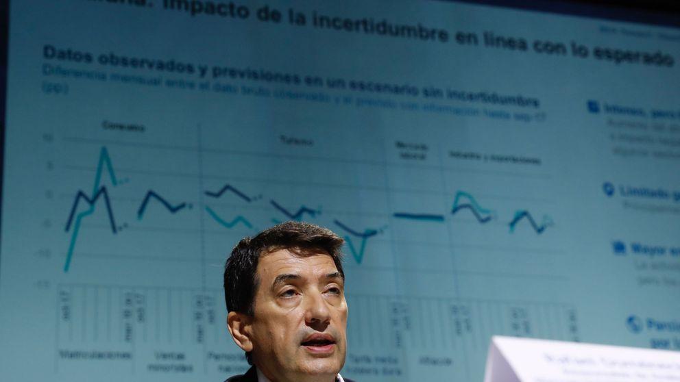 BBVA empeora su previsión de caída del PIB al 11,5% por el desplome del consumo