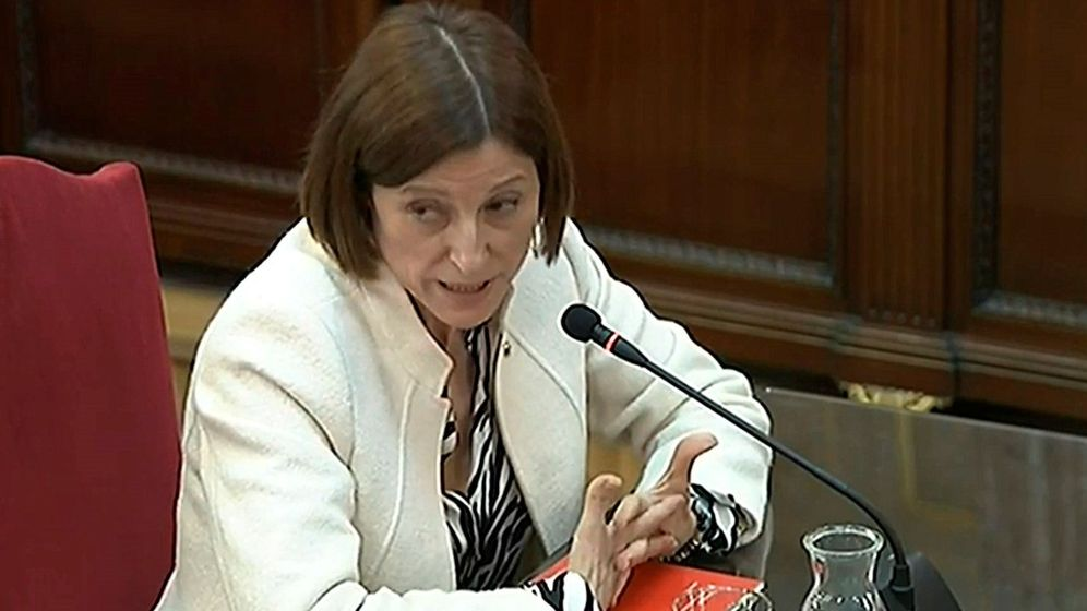 Foto: Imagen de la señal institucional del Tribunal Supremo de la expresidenta del Parlament Carme Forcadell. (EFE)