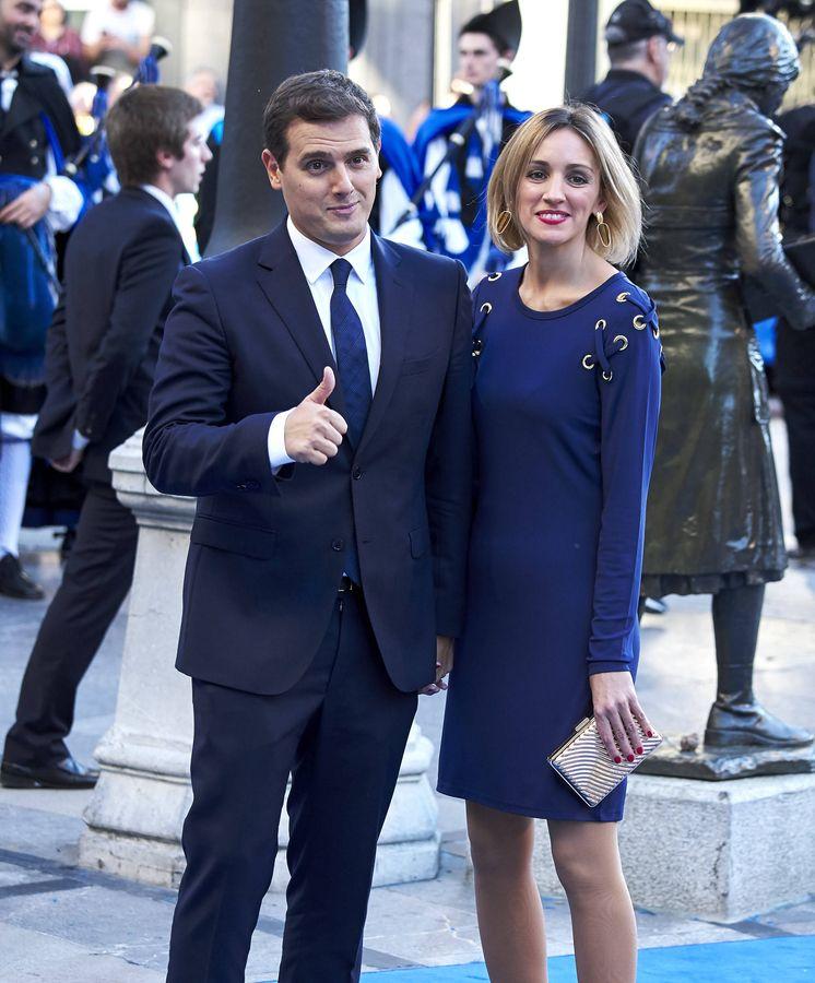 Foto: Albert Rivera y Beatriz Tajuelo, en los Premios Princesa de Asturias. (Getty)