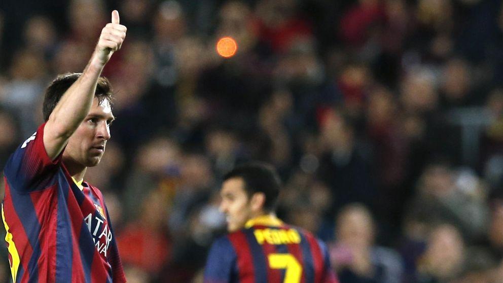 Messi cumple como el mejor, pero Alves y Neymar la lían con un baile