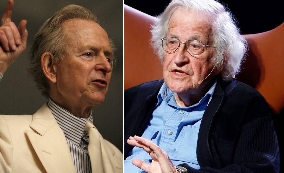 Foto: Tom Wolfe y Noam Chomsky.