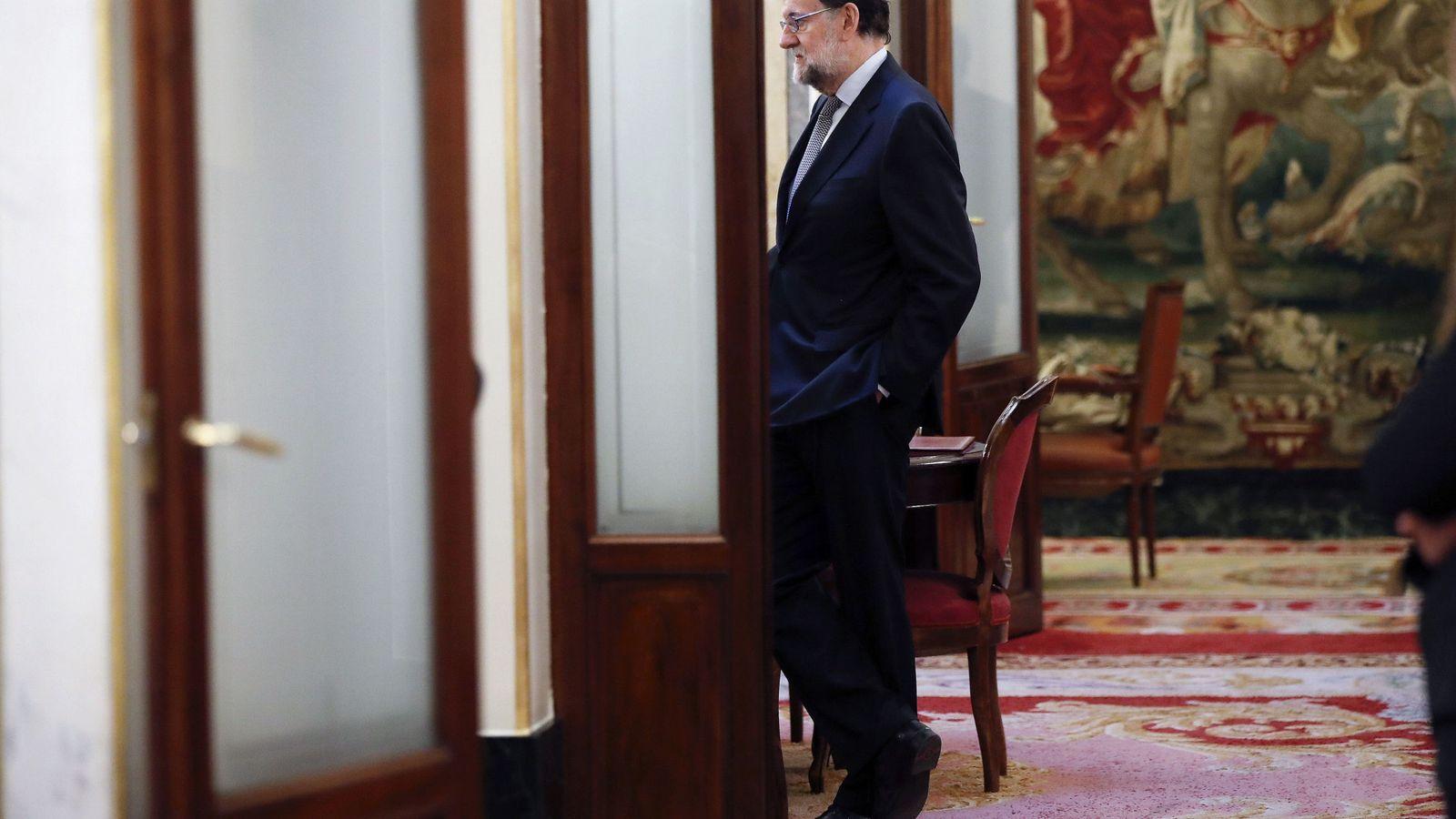 Foto: Mariano Rajoy en el Congreso de los Diputados. (EFE)