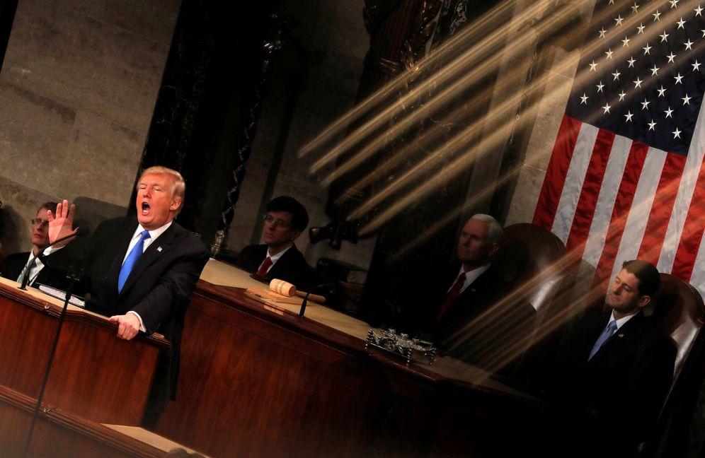 Foto: El presidente Donald Trump durante su discurso sobre el Estado de la Unión, el 30 de enero de 2018. (Reuters)
