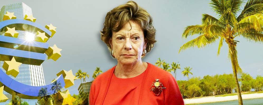 Foto: Neelie Kroes gestionó una sociedad 'offshore' durante su etapa como comisaria.