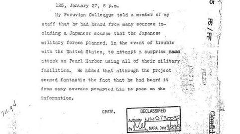 El telegrama que vaticinó el ataque de Pearl Harbor (pero nadie se creyó)