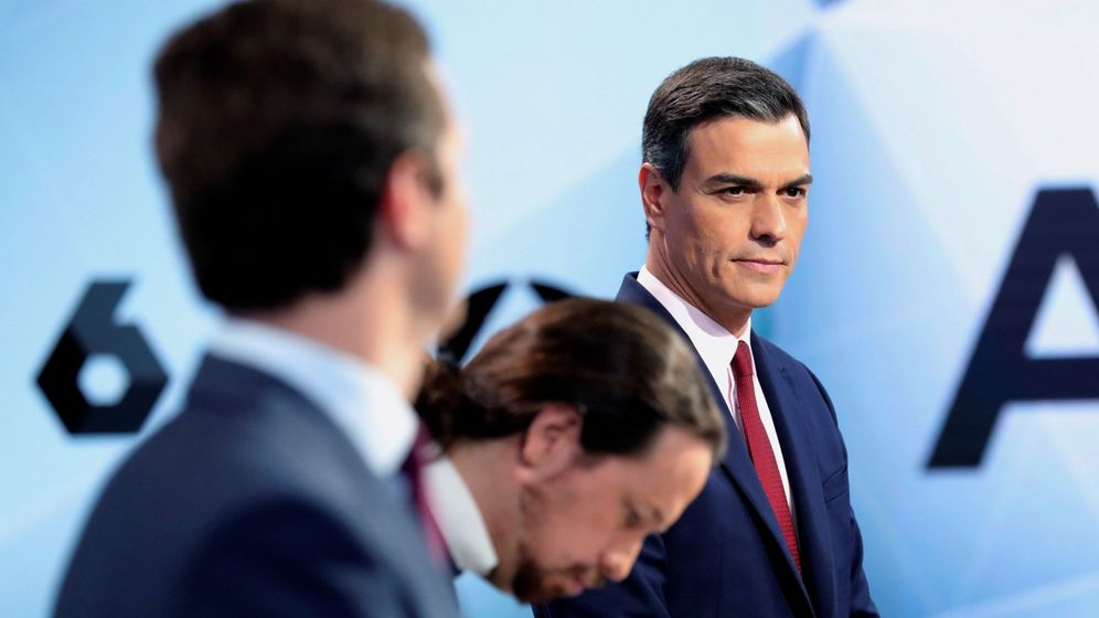 Foto: Los candidatos a la presidencia del Gobierno, durante el debate. (EFE)