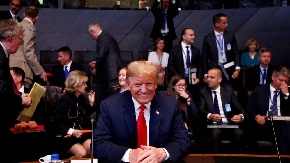 Foto: Donald Trump, en una reunión de la OTAN en 2018. (Reuters)