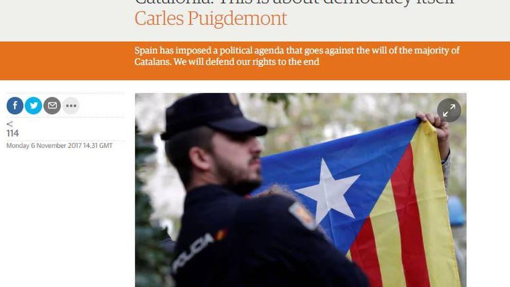 Puigdemont censura en 'The Guardian' la brutal ofensiva judicial de España
