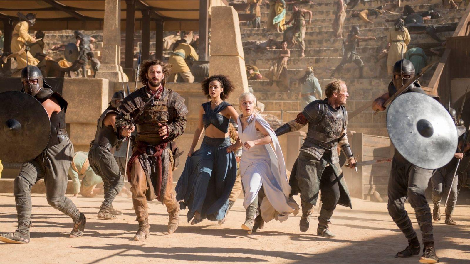 Foto: Fotograma de 'Danza de dragones', episodio de 'Juego de tronos' rodado en Sevilla. (HBO)