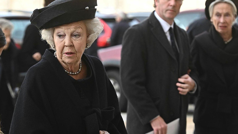 Beatriz de Holanda, en el funeral de la infanta Pilar. (EFE)