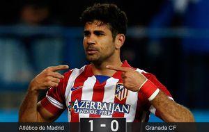 Costa hace de 'abrelatas' para situar al Atlético líder en solitario de Liga
