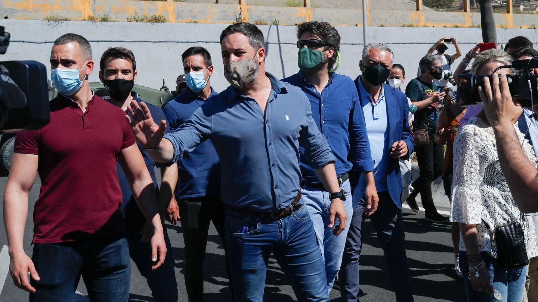El líder de Vox, Santiago Abascal, en Ceuta. (Reuters)