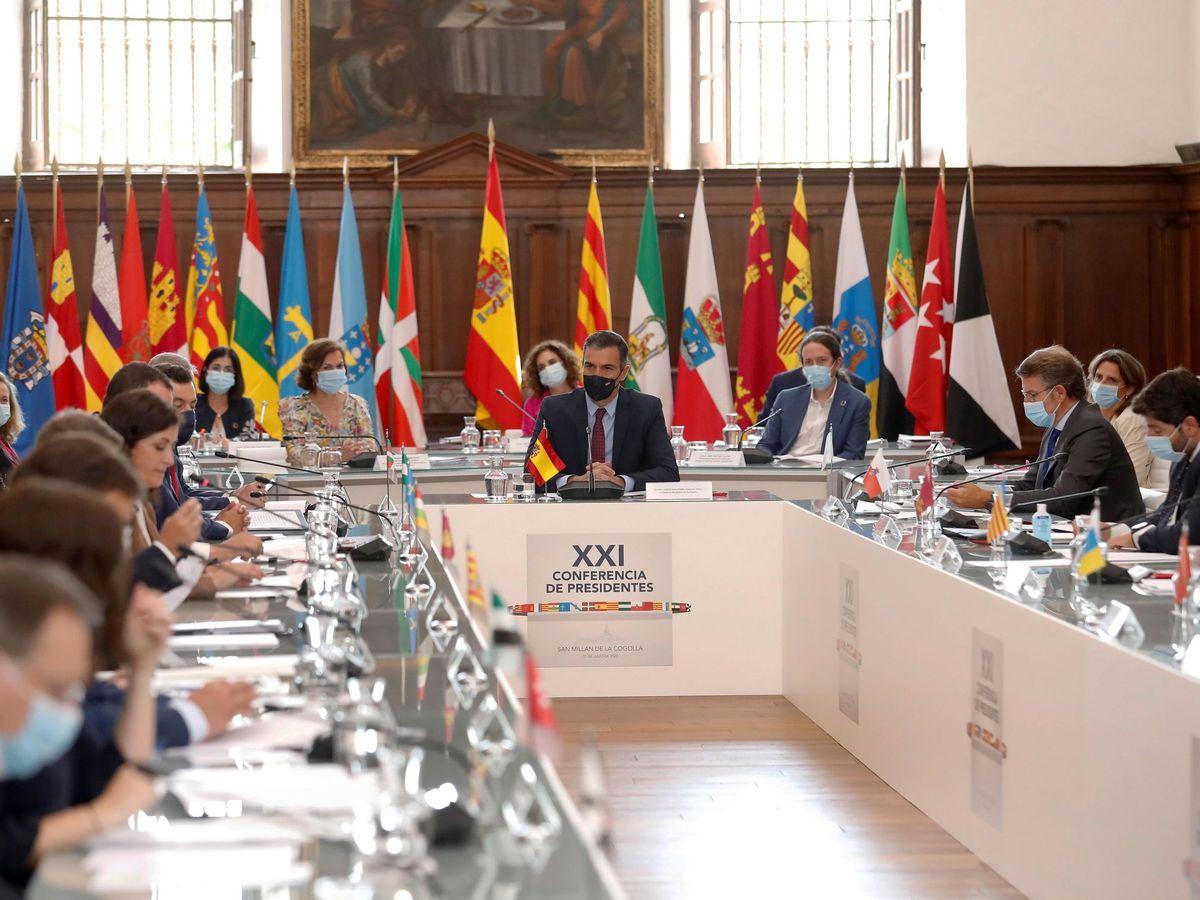 Foto: Los fondos europeos y el covid, ejes de la Conferencia de presidentes. (EFE)