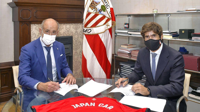 La firma del acuerdo entre el Athletic Club, representado por su presidente Aitor Elizegi, y los concesionarios Japan Car y Lexus Bilbao tuvo lugar en el Palacio de Ibaigane.