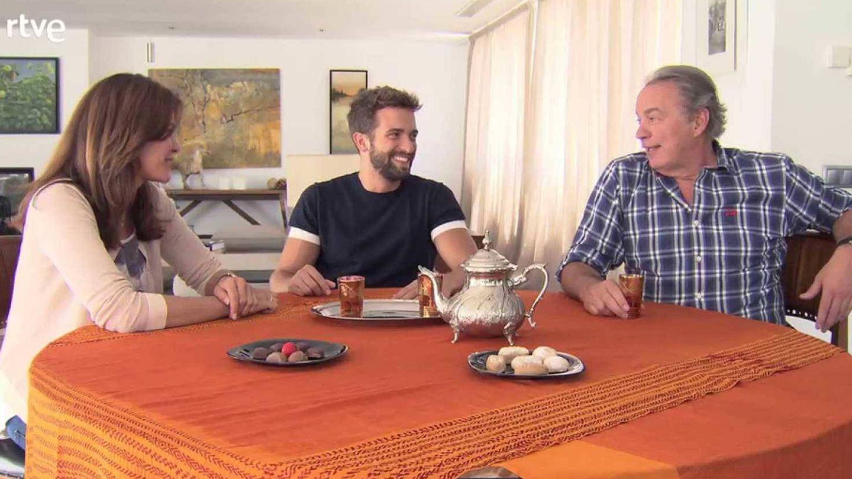Bertín Osborne con su mujer y Pablo Alborán en su primer programa (RTVE)