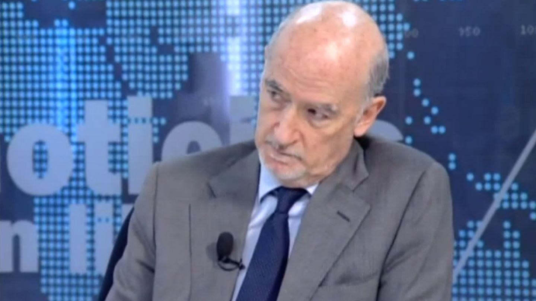 Alberto Recarte, en un programa de televisión