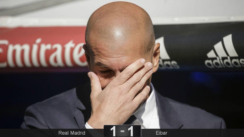 Foto: Zidane, durante el Real Madrid-Eibar. (EFE)