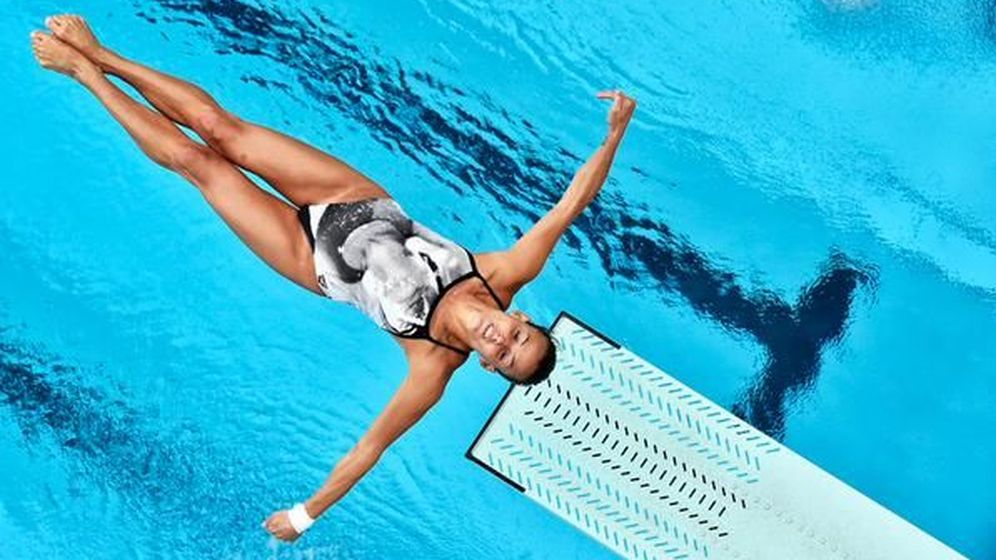 Foto: En la imagen, Rocío Velázquez durante un espectacular salto (Foto cedida por Subetudeporte)