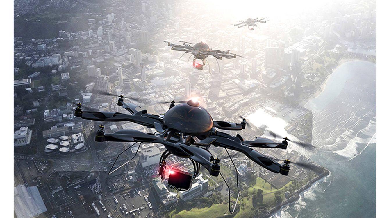 Foto: España lidera un proyecto europeo que apuesta por la irrupción de los drones en ciudades (como el de la imagen) y entornos rurales.