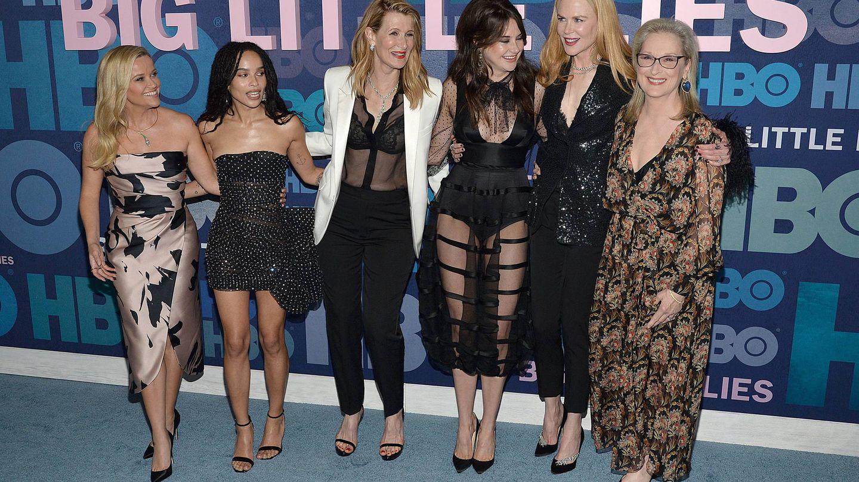 De izda a dcha: Reese Witherspoon, Zoë Kravitz, Laura Dern, Shailene Woodley, Nicole Kidman y Meryl Streep. (Cordon Press)