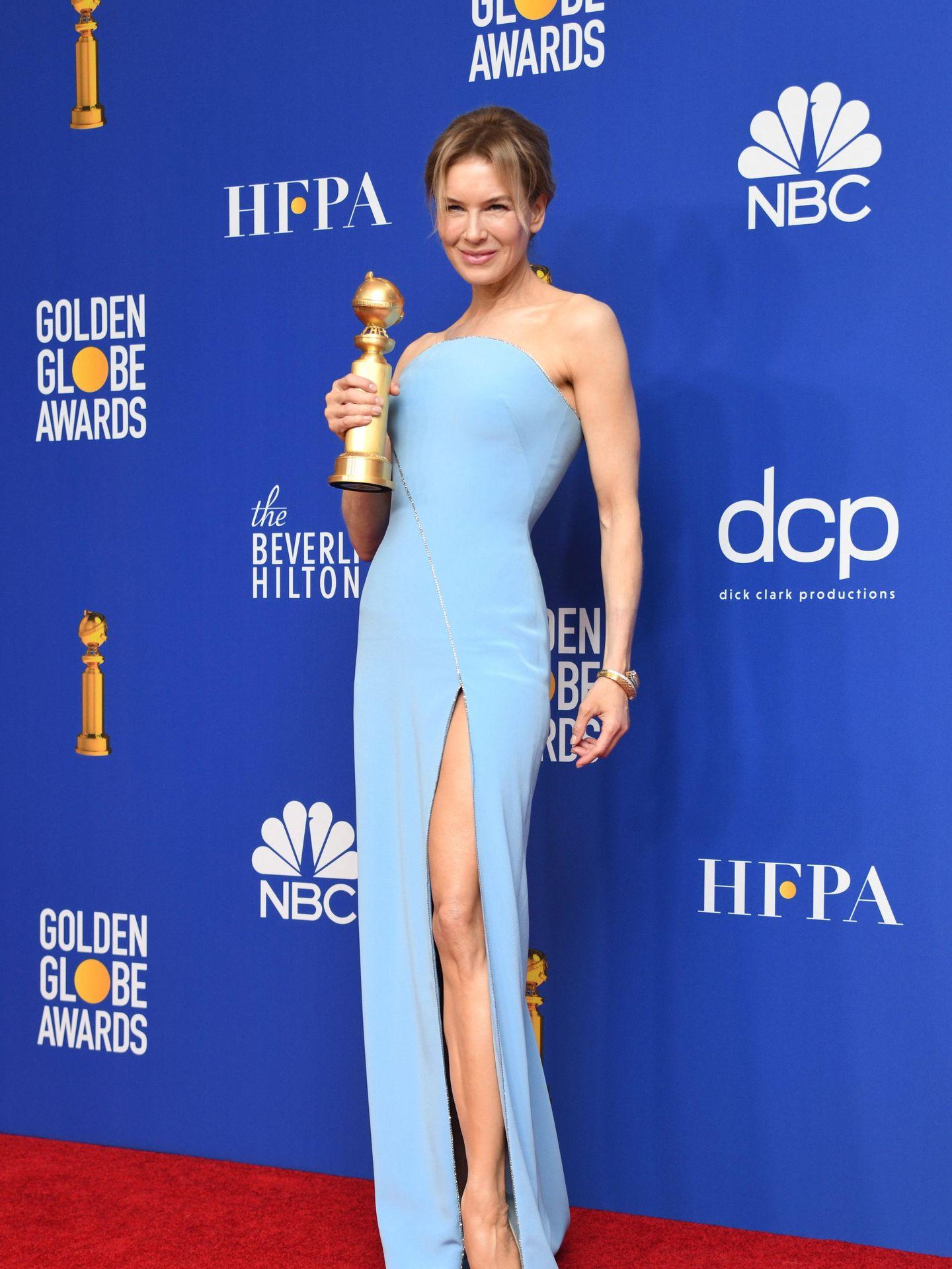 Renée Zellweger, en los Globos de Oro. (EFE)