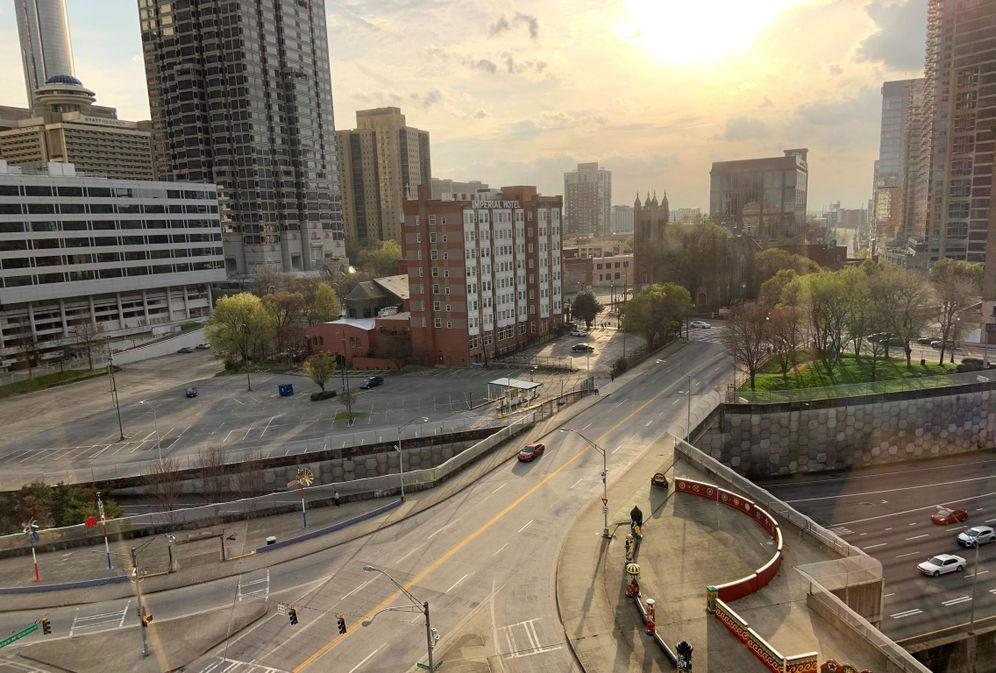 Foto: Atlanta, casi vacía. (EFE)