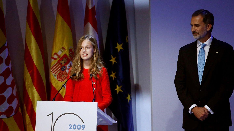 La princesa Leonor, durante su discurso en los premios de 2019. (EFE)