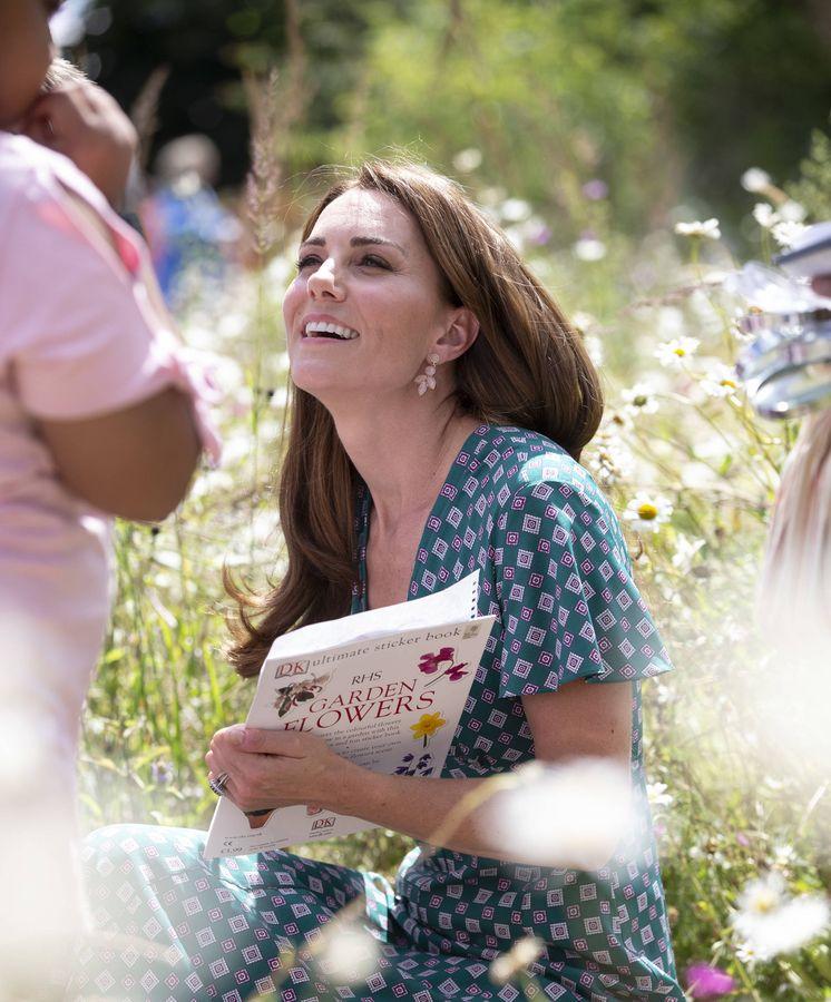 Foto: Kate Middleton en el Hampton Court Flower Festival. (Getty)
