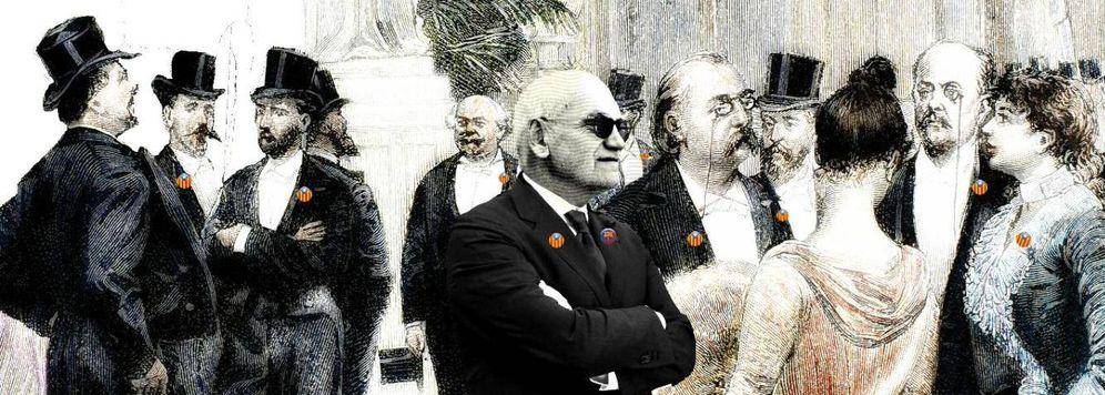 Foto: Carles Vilarrubí, entre la burguesía catalana. (Enrique Villarino)