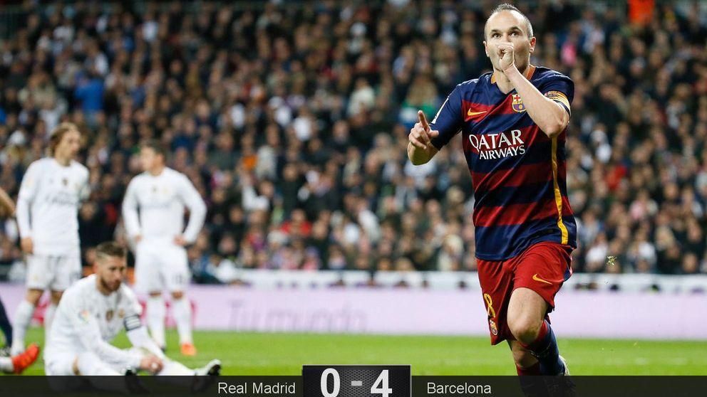 Baño del Barcelona y estallido del Bernabéu: ¡Florentino, dimisión!