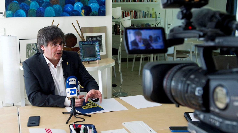 El acta ante notario de Puigdemont: Por imperativo legal, acato la Constitución