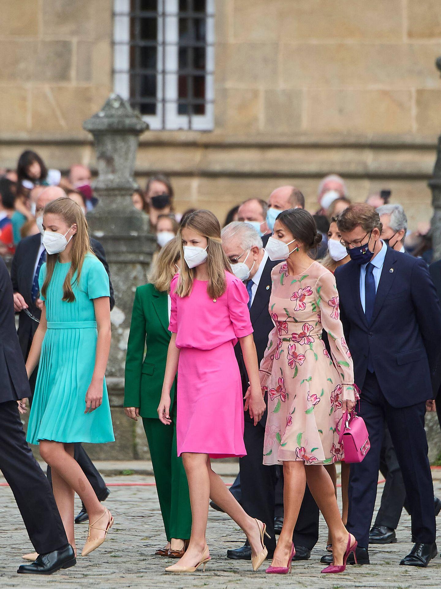 La reina Letizia, este domingo en Santiago. (Limited Pictures)