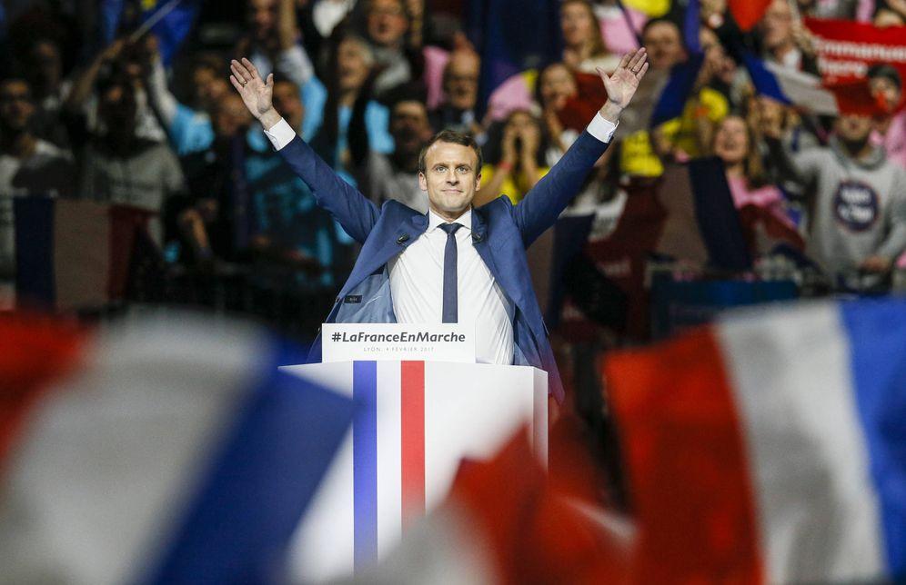 Foto: Emmanuel Macron durante un mitin de campaña en Lyon, el 4 de febrero de 2017 (Reuters).