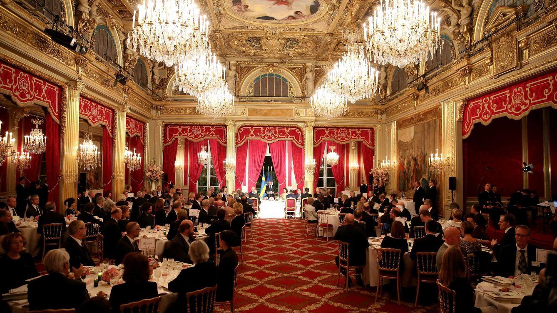 Foto: Imagen de la cena celebrada en honor de los reyes de Suecia en el Palacio del Elíseo (Gtres)