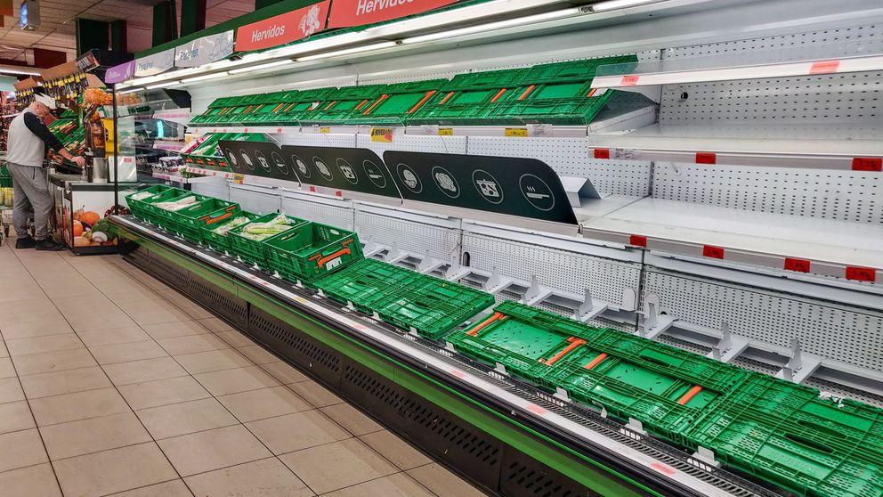 Los supermercados dispararon ayer sus ventas en un 145% de media por el virus